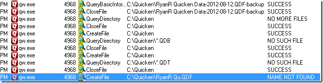 I don't actually keep my Quicken files at C:\Quicken, but changed it for this image to make it simpler. =)