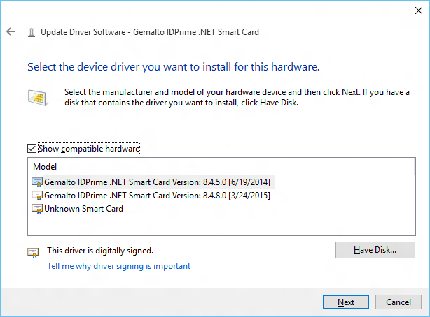AXALTO CRYPTOFLEX.NET DRIVERS PC